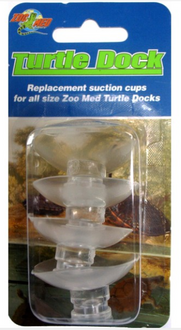 Zoo Med Turtle Docks replacement Suction Cups Card of 4