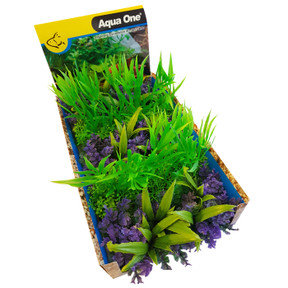 Aqua One Ecoscape Foreground Catspaw W/grass Pu/willow Hygro GN Mix Punnet 5pk (28370)