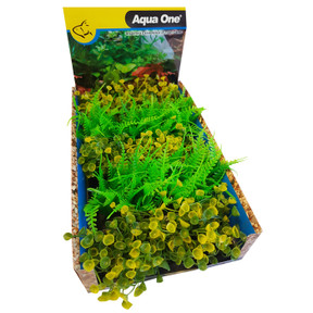 Aqua One Ecoscape Foreground Ogris Auribus Yl/fern GN Mix Punnet 5pk (28371)