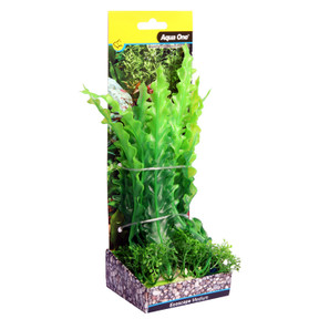 Aqua One Ecoscape Medium Ruffled Lace Plant Green 20cm (28381)