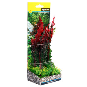 Aqua One Ecoscape Medium Ruffled Lace Plant Red 20cm (28384)