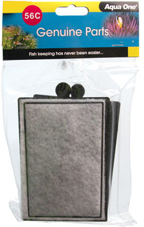 Aqua One 400 Hang On Filter Carbon Cartridge 56c (2pk) (25056c)