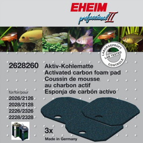 Eheim 2026/2028/2226 Carbon Filter Pad (3pk) (2628260)