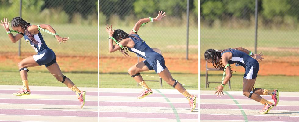 Proper sprinting form