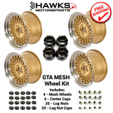 GTA Gold 17x9 Mesh Wheel Kit - FREE SHIPPING