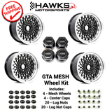 GTA Black Mesh Wheel Kit - FREE SHIPPING
