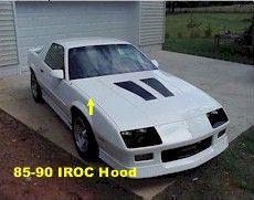 Hood, Camaro 85-92 Z28/IROC Hood, New Aftermarket