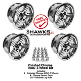 88-90 Camaro 17 x 9 Chrome IROC-Z  Wheel Kit - FREE SHIPPING