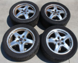 2001-2002 Trans Am WS6 Speedline 17x9 Polished Factory Wheels w/Tires Set of 4, USED