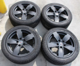 2004-06 Pontiac GTO 17x8 Black OEM GM Factory Wheels w/Firestone Tires, SET USED