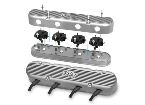 2-PC LS Vintage Series Valve Covers, HOLLEY