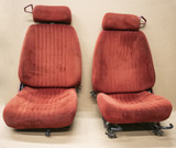 1988 Carmine Red Firebird Seat Set, USED