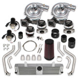 2001-2004 Corvette LS1/ Z06 LS6 STS Turbo Rear Mounted Twin Turbo System without tuner & fuel injectors, Holley