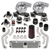 2001-2004 Corvette LS1 / Z06 LS6 STS Turbo Rear Mounted Twin Turbo System with tuner & fuel injectors, Holley