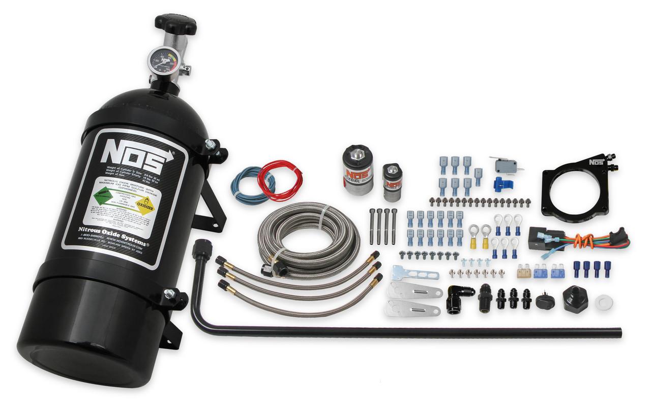 90MM GM LS Wet Nitrous System w/4 Bolt Cable Throttle Body, NOS