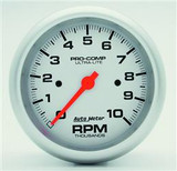 """**CLEARANCE**Auto Meter Ultra-Lite Tachometer 3-3/8"""" Face"""