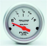 "**CLEARANCE**Auto Meter Ultra-Lite Fuel Level Gauge 2-1/16"" Face"