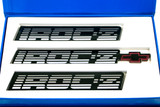 1988-90 Camaro IROC-Z Silver Emblems, GM Restoration Reproduction