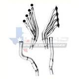 "2009-14 Cadillac CTS-V SSteel Long Tube Headers w/3"" Off-Road X-Pipe, TSP"