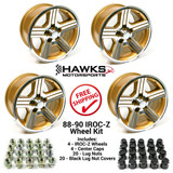 88-90 Camaro 17 x 9 IROC-Z  Gold Wheel Kit - FREE SHIPPING
