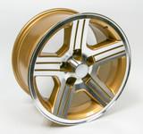 1988-90 Camaro IROC-Z 17 x 9 Wheel Set of 4, Gold Finish- FREE SHIPPING