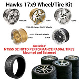 Hawks 17 x 9 GTA / IROC-Z Wheel Kit w/NT555 Tires, Mounted and Balanced