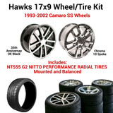 Hawks 17 x 9 Camaro SS Wheel Kit w/NT555 Tires, Balanced and Mounted