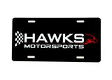 Hawks Motorsports Aluminum Gloss Black Front Tag