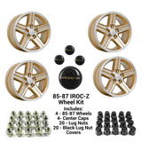 85-87 Camaro 17 x 9 IROC-Z  Gold Wheel Kit - FREE SHIPPING