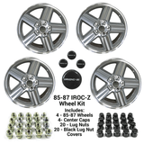 85-87 Camaro 17 x 9 IROC-Z  GRAY Wheel Kit - FREE SHIPPING