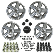 "NEW Wheel Center Caps 16/"" w// Lug Nuts Black Covers Set for 88-90 IROC Z Camaro"