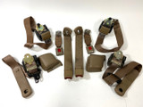 **CLEARANCE** 94-96 Camaro Firebird Convertible TAN FULL Seat Belt SET USED