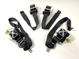 **CLEARANCE** 2010-15 Camaro Black Ebony Seat Belt Set, USED