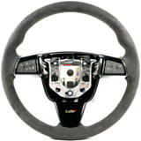 2009-2015 Cadillac CTS-V Steering Wheel Manual M6 Black Suede Black Stitching - GM OEM