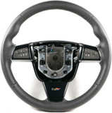 2009-15 Cadillac CTS-V Steering Wheel Manual M6 Black Leather w/Black Stitching