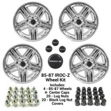 85-87 Camaro 17 x 9 IROC-Z CHROME Wheel Kit - FREE SHIPPING