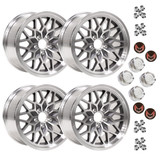 1993-2002 Camaro/Firebird 17x9 Gunmetal SnowFlake Wheel Kit