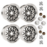 1978-81 Camaro/Firebird 17x9 Cast Aluminum Black SnowFlake Wheel Kit