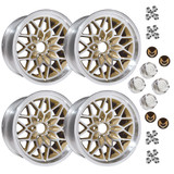 1978-81 Camaro/Firebird 17x9 Cast Aluminum Gold SnowFlake Wheel Kit