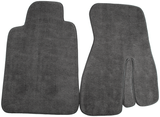 1993-1999 Camaro/Firebird Front Carpet Floor Mats No LOGO, Graphite Gray, Hawks
