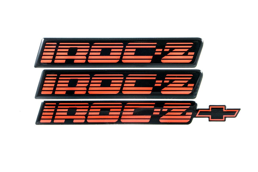 82-92 Camaro IROC Z28 5.7L TPI Rear Bumper Emblem Gold NEW