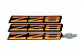 82-84 Camaro Z28 Tri-Color Red/Orange Emblem Set, New Aftermarket