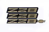 91-92 Camaro Z28 GOLD Emblem Set, New Aftermarket