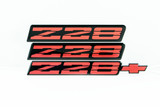 91-92 Camaro Z28 Red Emblem, Set, Aftermarket