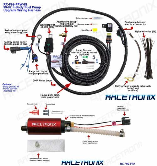 fuel pump kit racetronix 1998 ls1 5 7l f body fuel pump wiring rh hawksmotorsports com ls1 wiring harness pinout ls1 wiring harness connectors