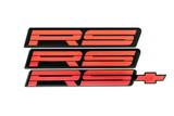 91-92 Camaro RS  Red Emblem, Set, Aftermarket
