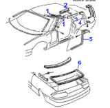94-2002 Camaro / Firebird Convertible Weatherstripping Side Seal, RH Passenger