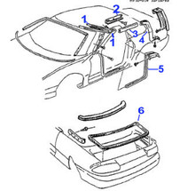 Convertible, 94-2002 Camaro / Firebird Convertible Weatherstripping Side Seal, Select