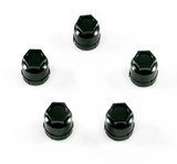 Lug Nut Caps Set of 5, Camaro /  Firebird 82-2002 Black Wheel Lug Nut Plastic Cap, Select quantity