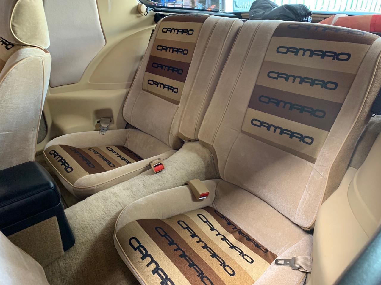 Lear Siegler 83-86 Camaro Custom Seat Upholstery w/ Solid Rear Back